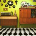 Harlequin Black & White Cushionaire Designer Vinyl