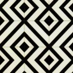 Kaleidoscope Black & White Cushionaire Designer Vinyl