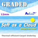 GRADED Soft as a Cloud 12mm carpet underlay