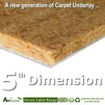 5th Dimension natural fibre underlay