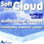 Soft as a Cloud 12mm carpet underlay