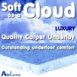 Soft as a Cloud 9mm carpet underlay