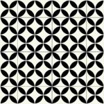 Portofino Black & White Cushionaire Designer Vinyl