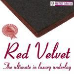 Red Velvet combination rubber & felt carpet underlay