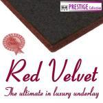 Red Velvet combination rubber & felt carpet underlay