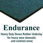 Endurance dense rubber carpet underlay