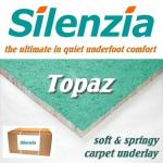 Silenzia Topaz 10mm carpet underlay