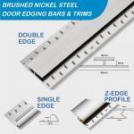 Brushed Nickel Door Bars and Trims 900mm