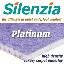 Silenzia Platinum High Density 12mm carpet underlay