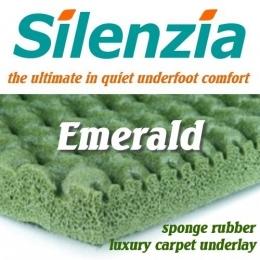 Silenzia Emerald 10mm Sponge Rubber carpet underlay